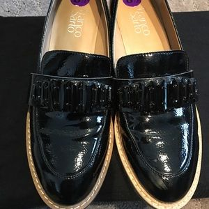 70951d097d9c Franco Sarto Shoes - Franco Sarto Black Patent Jeweled Carver Loafers!